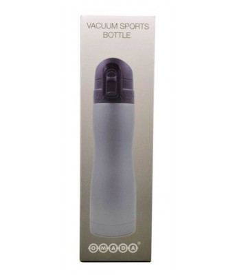 H2GO-Omada Double Lock Vacuum Stainless Steel Sipper Bottle 500 ML-Grey