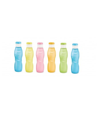 Milton Ace Flip 500 ML Polypropylene Bottle 6 Pc Set Multi Color