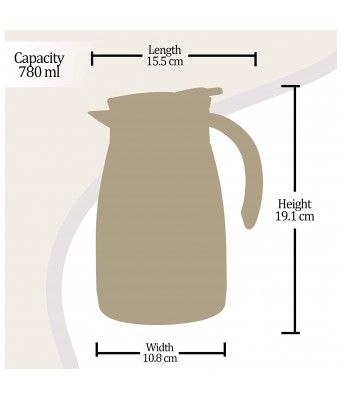 Milton Carafe Bistro 800 770 ml Flask  (Pack of 1, Black, Steel)