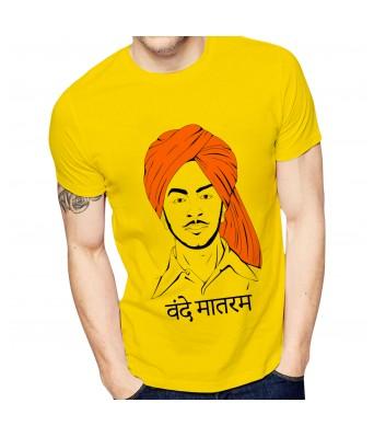 Ghantababajika Mens Printed Vande Mataram  T-Shirt | Quote Printed T-Shirts