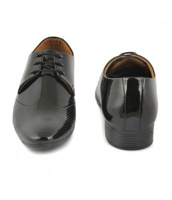 FIRSTCLUB Men's Black Patent leather Formal shoes