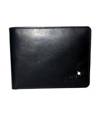 Mont Blanc  Genuine Leather Black Mens Wallet (Bi-Fold)