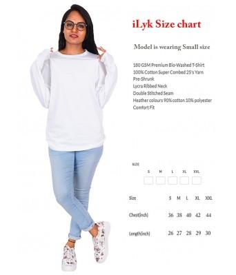 iLyk Womens Dab Panda Fullsleeve White Cotton T-Shirt