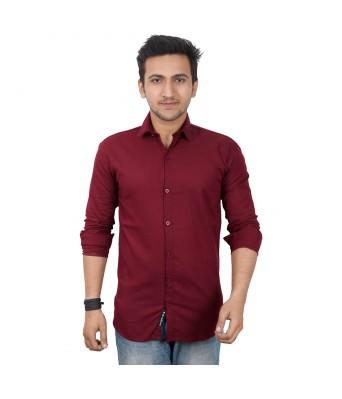 Mens world  Maroon casual  shirt