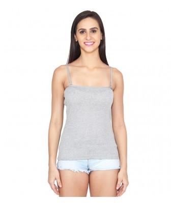 Ansh Fashion Wear Grey,Dark Blue Color Cotton Spaghetti Pack Of 3