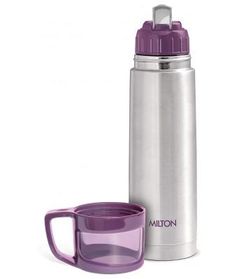 Milton Glassy Flask 500ml Vacuum Flasks - Purple