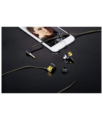 Zoook Universal Earphone ZM-E22 Blue With Extra Bass (Gold)