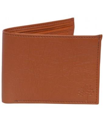 Men Tan Artificial Leather Wallet��(4 Card Slots)