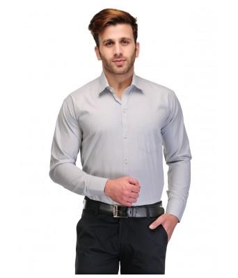 Koolpals Men Formal Rich Cotton Blend Shirt Green Solid
