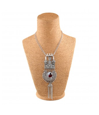 Aradhya Oxidized Silver Necklace for Girls