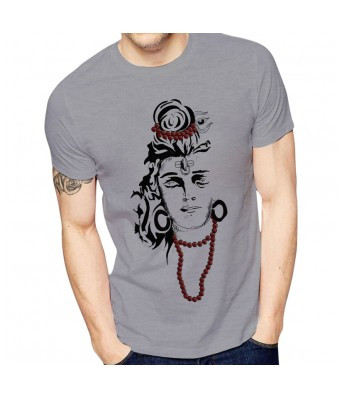 Men's Printed T-Shirt (Grey Color)
