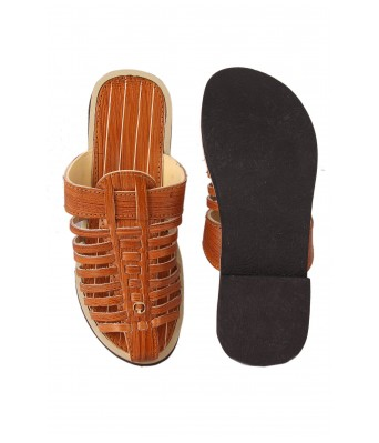 Synthetic Leather Slipper for Mens,Boys (Wood Color)