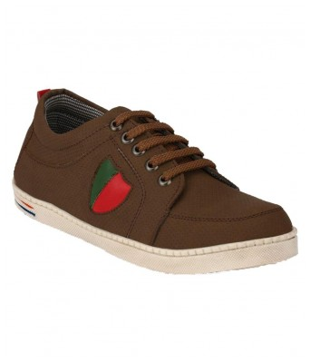 Boggy Confort Brown Synthetic Sneakers casual Shoes for Mens & Boys