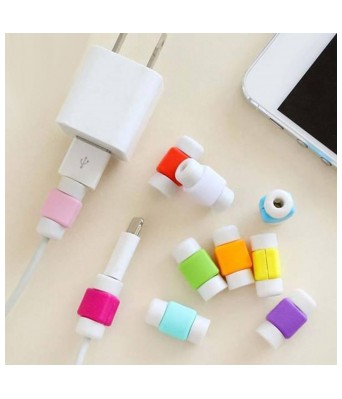 Sasta Bazar Protector Saver Cover for iPhone iPad Android Windows USB Charger Cable Cord (5 pcs)