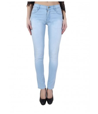 Ansh Fashion Wear Womens Denim Jeans - Regular Fit - Monkey Light Blue