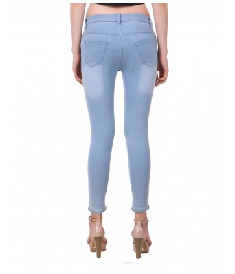 Ansh Fashion Light Sky Blue Color Womens Denim Jeans
