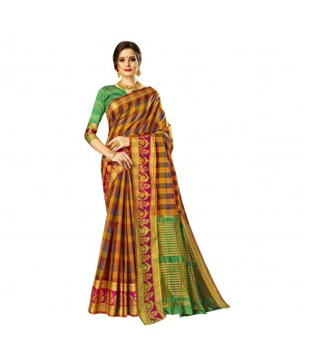 Triveni Multicolor Art Silk Festival Wear Woven Saree