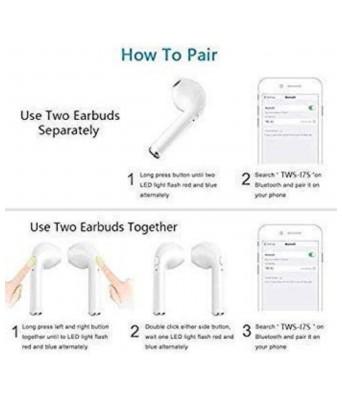 I 7s wirless bluetooth ear buds earphone