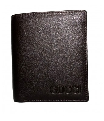 GUCCI  Genuine Leather Brown Mens Wallet