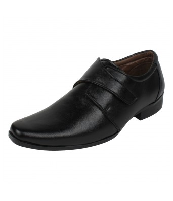 Molessi Black Textured Formal Shoe