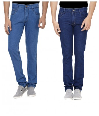 Ansh Fashion Wear Combo of 2 MenS Regular Fit Strechable Cotton Jeans