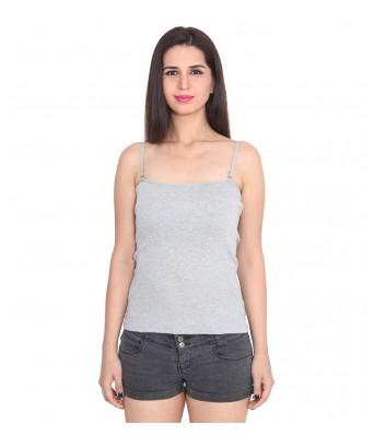 Ansh Fashion Wear Grey Color Cotton Spaghetti