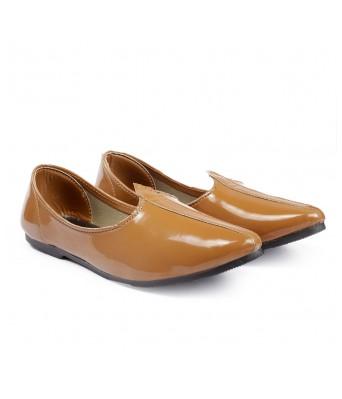 Bxxy Men's Patent Faux Leather Jutti's, Nagra's and Mojari's