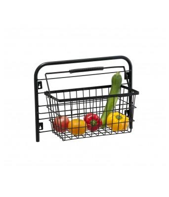 Wall Mounted Fruits/Vegetable Basket Black - Eurostar