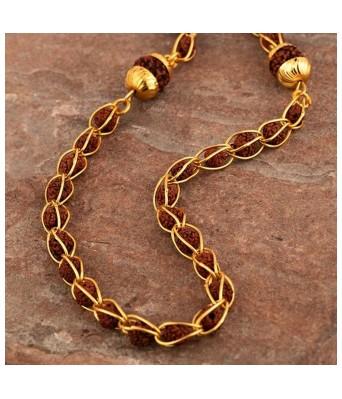 Rudraksha Men's Brass Chain