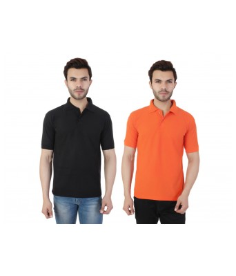 Ansh Fashion Wear  Cotton Blend Pack Of 2 Polo T-shirt