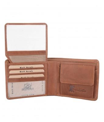 BullKraft Mens Brown Color Casual Maroon Color Formal Genuine Leather Wallet