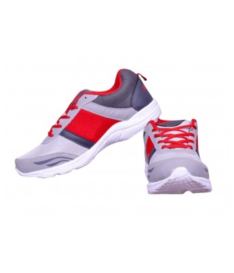 MOLESSI MEN  WHITE RED SPORTS SHOES
