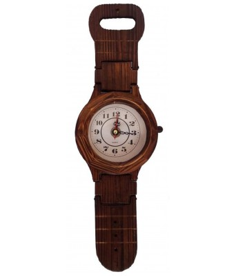 V Brown Color Antique Designer  Wooden Analog Wall Clock