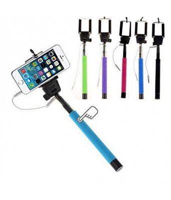 Sasta Bazar Selfie Stick Monopod Extendable with 3.5MM AUX Cable for Android, iPhone