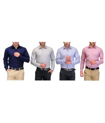 Koolpals Mens formal Cotton Blend Shirts (Pack of 4 Shirts)
