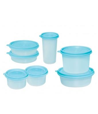 MILTON I-Fresh Plastic Container - 2 x 150 ml, 2 x 200 ml, 2x 400 ml, 1 x 550 ml, 7 Pieces, Blue
