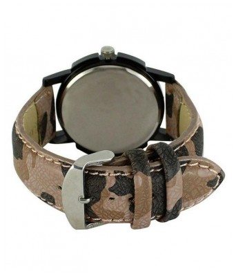 Saving Store Army Color Watch for boys Leather Analog