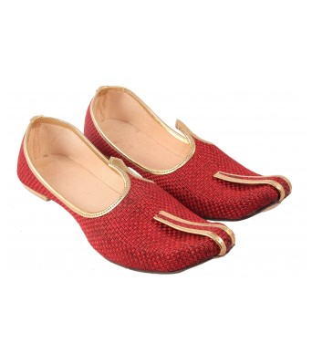 AMAZING TRADERS Jute Juti,Shoes for Mens,Boys (Red Color)