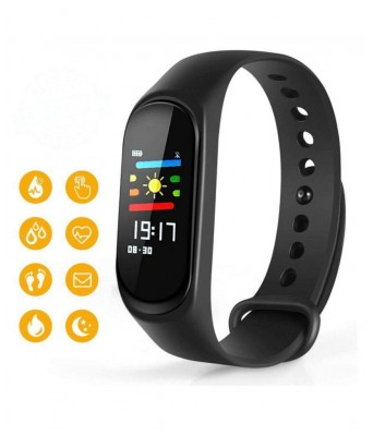 M3 Smart Band With Heart Rate Sensor Features And Many Other Impressive Features  Water Proof Or Sweat Free Compatible With All Device (Black)
