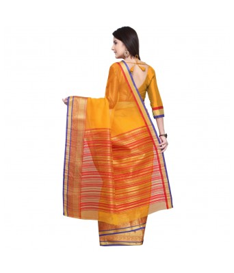 Triveni Yellow Cotton Silk Festival Wear Viscose Design With Blouses  Sarees