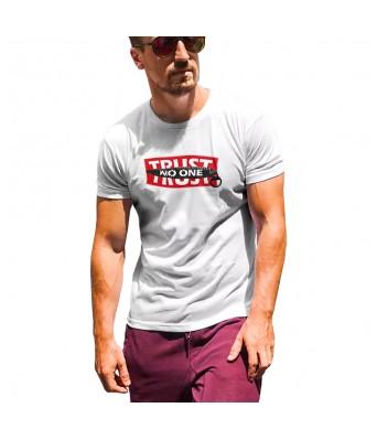 Koolpals White Cotton Men T-Shirts