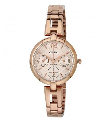 Casio Enticer Analog Rose Gold Dial Women's Watch - LTP-E401PG-9AVDF(A975)