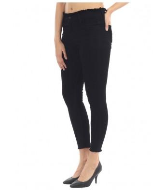 Veravibe Frayed High Waist Skinny Fit Premium Jeans - Black-28