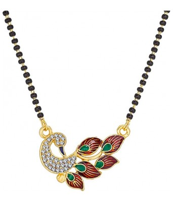 Women Peacock Gold Mangalsutra Set