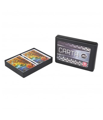 Parksons Cartamundi Carta (Twin Pack) Pure Plastic Playing card for Fun / game / party