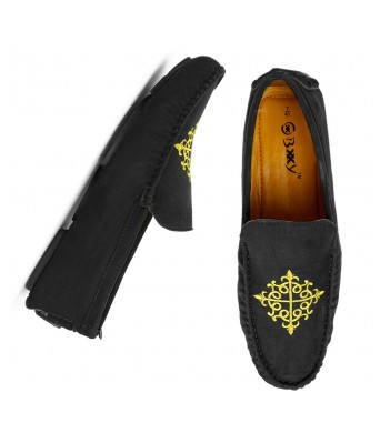 Bxxy Men's Casual Suede Material Driving and Loafers Shoes
