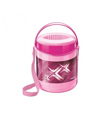 Milton Econa Deluxe Plastic Tiffin Box Set, 200ml/150mm, 2-Pieces, Pink