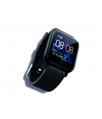 GIZMORE GizFit 902 Black Smartwatch  (Black Strap Regular)
