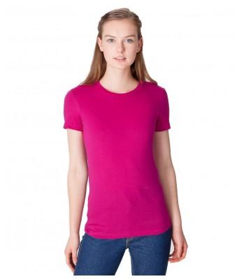 iLyk WoMens plain Pink Roundneck T-Shirt