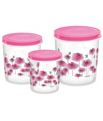Milton - 7 L, 10 L, 5 L Plastic Grocery Container (Pack of 3, Clear)